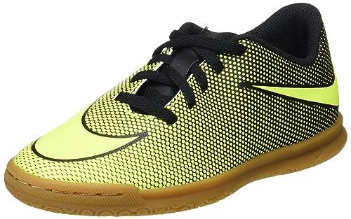 Nike Bravata II TF, Botas de Fútbol Unisex Niños, Negro (Black/Volt), 38.5 EU