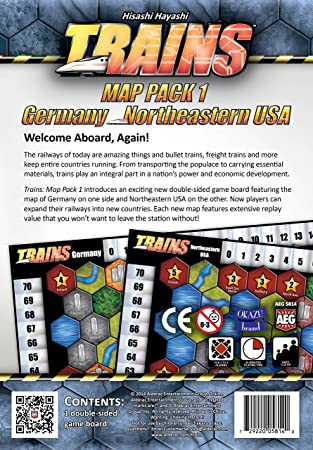 Alderac Entertainment Group Trains Map Game Pack Board Games