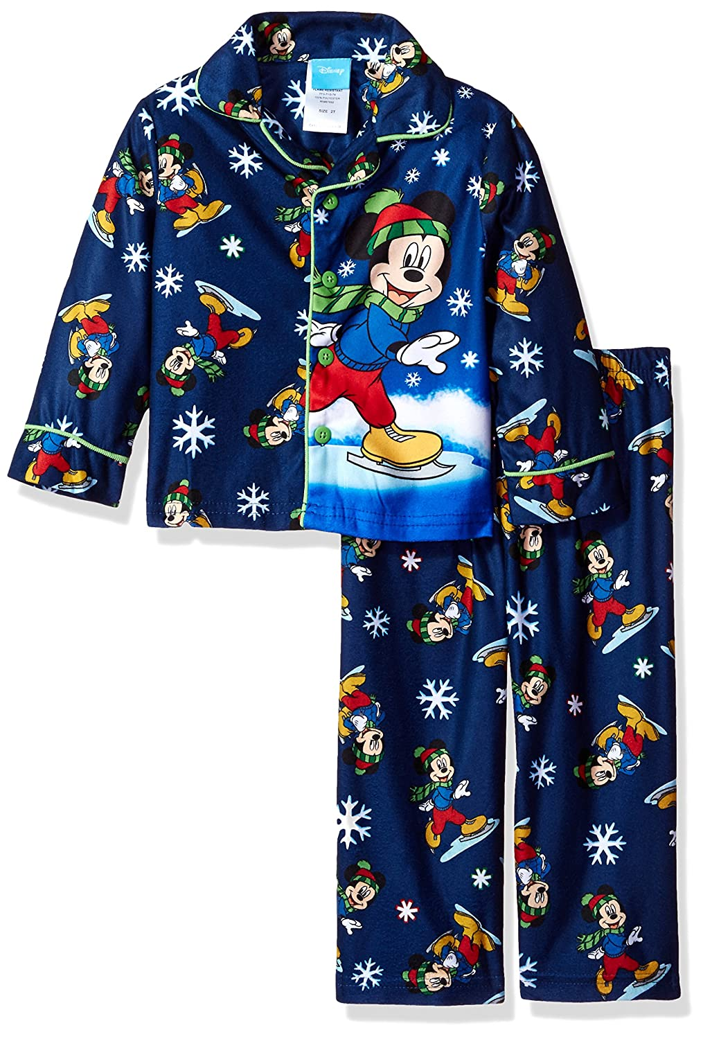 Disney Toddler Boys' Mickey Mouse 2-Piece Pajama Coat Set, Blue, 2T 21MK306ECLDZ