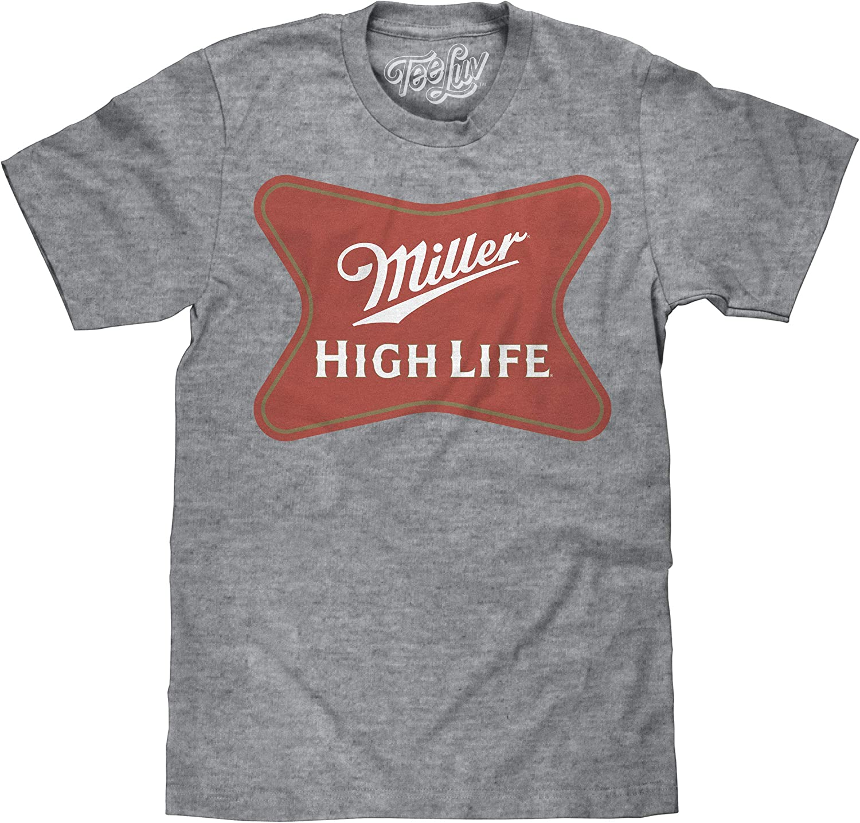 Tee Luv Miller High Life Shirt - Miller Beer Logo T-Shirt