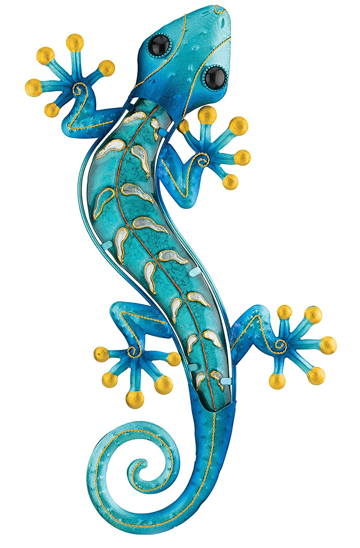 Regal Art & Gift Gecko Wall Decor, 18-Inch, Blue (10893)