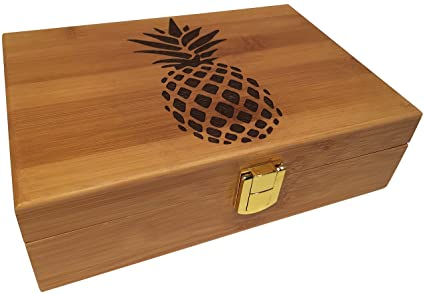 Amazon Pineapple Engraved Wood Stash Box Premium Design With Classy Decorative Wooden Boxes With Lids