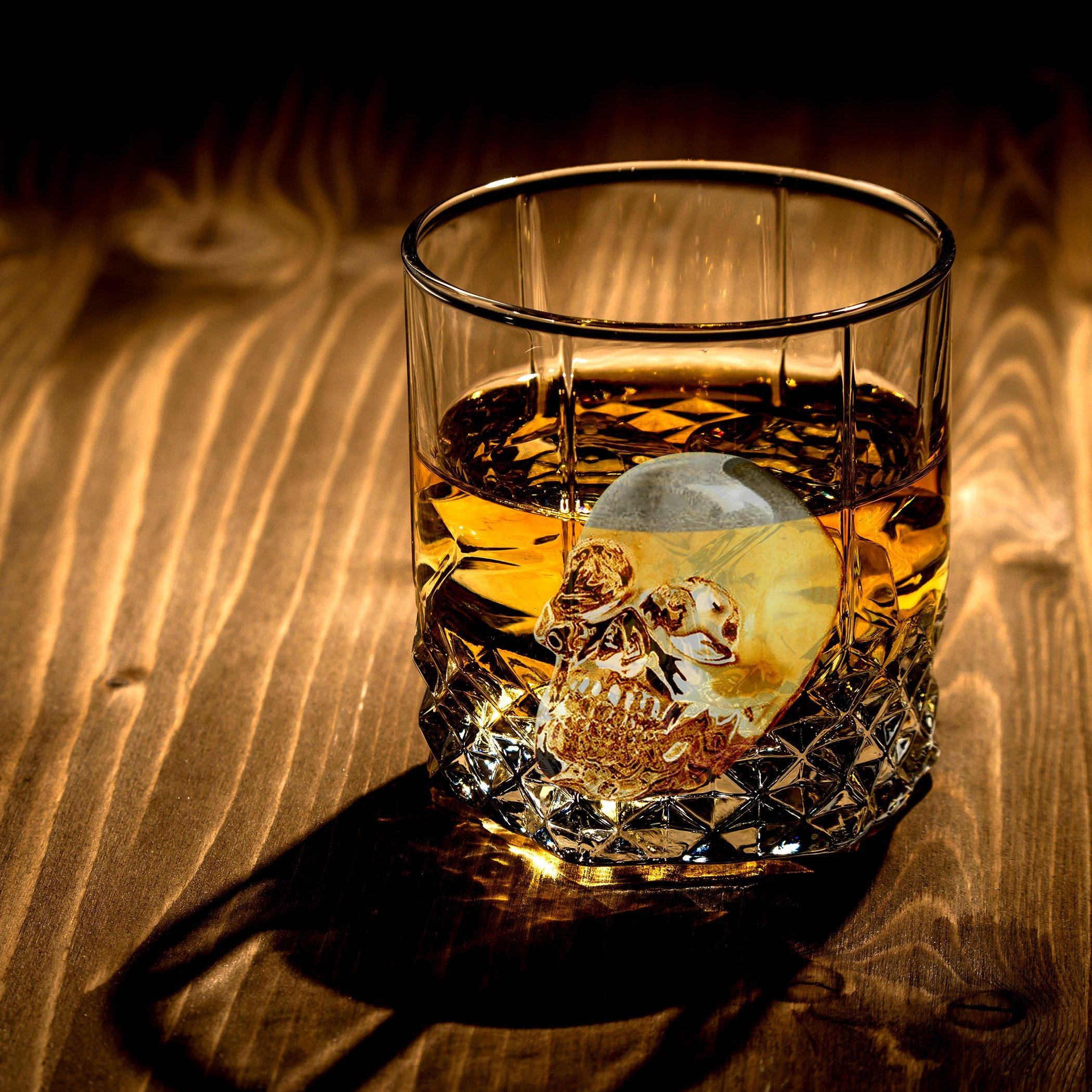 3D Skull Ice Cube Trays for Whisky, Cocktail, Wine, Kitchen, Bar, Party and Halloween by LINPOZONE (Image #4)