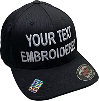 Custom Hat Flexfit 6277 6533 Delta & More Embroidered.