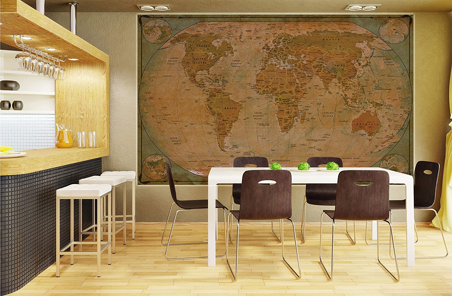 Historical world map poster xxl wall picture decoration globe historical world map poster xxl wall picture decoration globe antique vintage world map used atlas map old school wallposter photoposter wall mural wall gumiabroncs Images