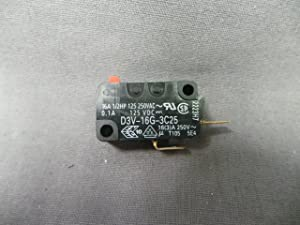OMRON Snap Action Micro Switch SPST-NO D3V-16G-3C25 (1 Switch)