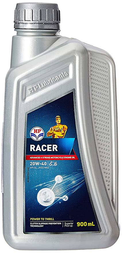 HP Lubricants Racer4 20W-40 API SL Motorcycle Engine Oil (0 9 L)