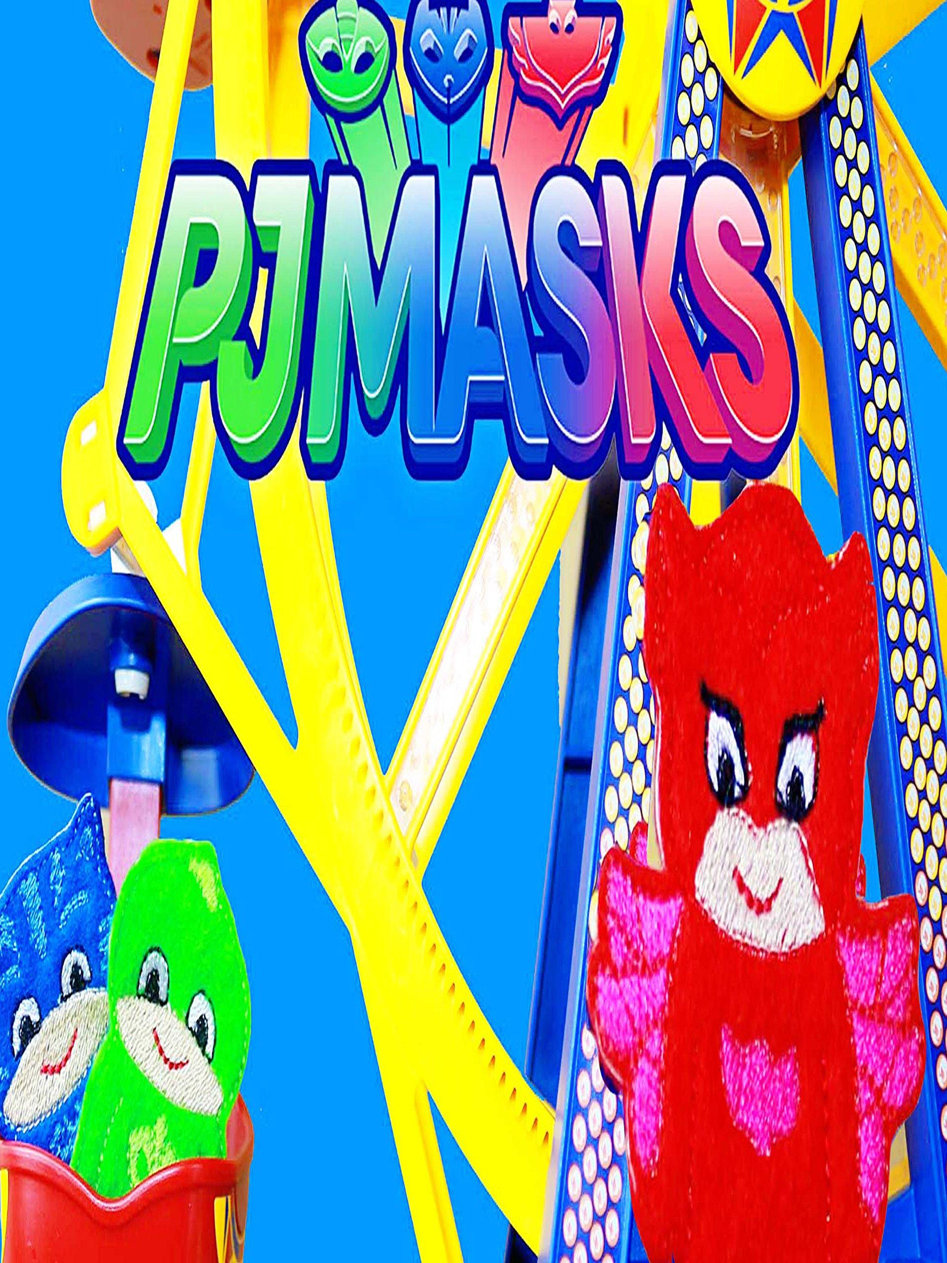 Amazon.com: PJ MASKS Disney Junior PJ MASKS Gekko Catboy Owlette GO TO CARNIVAL RIDES Toys Parody: Catboy, Owlette, Gekko, Valerie
