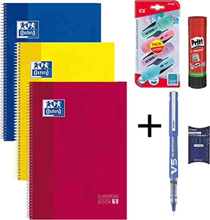 Oxford & Pilot & MP & Pritt Material Escolar (3 Libretas Oxford A4 ...