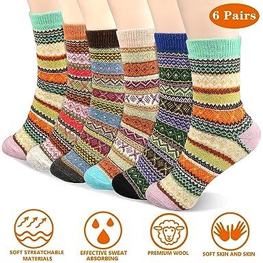 Calcetines de Calientes, Emooqi Mujeres de Moda Otoño Invierno Tejer Calcetines Casuales Calcetines Calientes Respirables