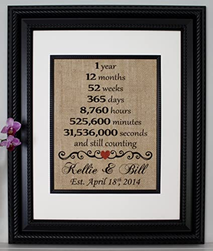 Amazoncom First Anniversary Burlap First Year Married 1st