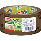 tesa UK Eco and Strong Recycled Printed Strong Packaging Tape 66 m x 50 mm - Brown