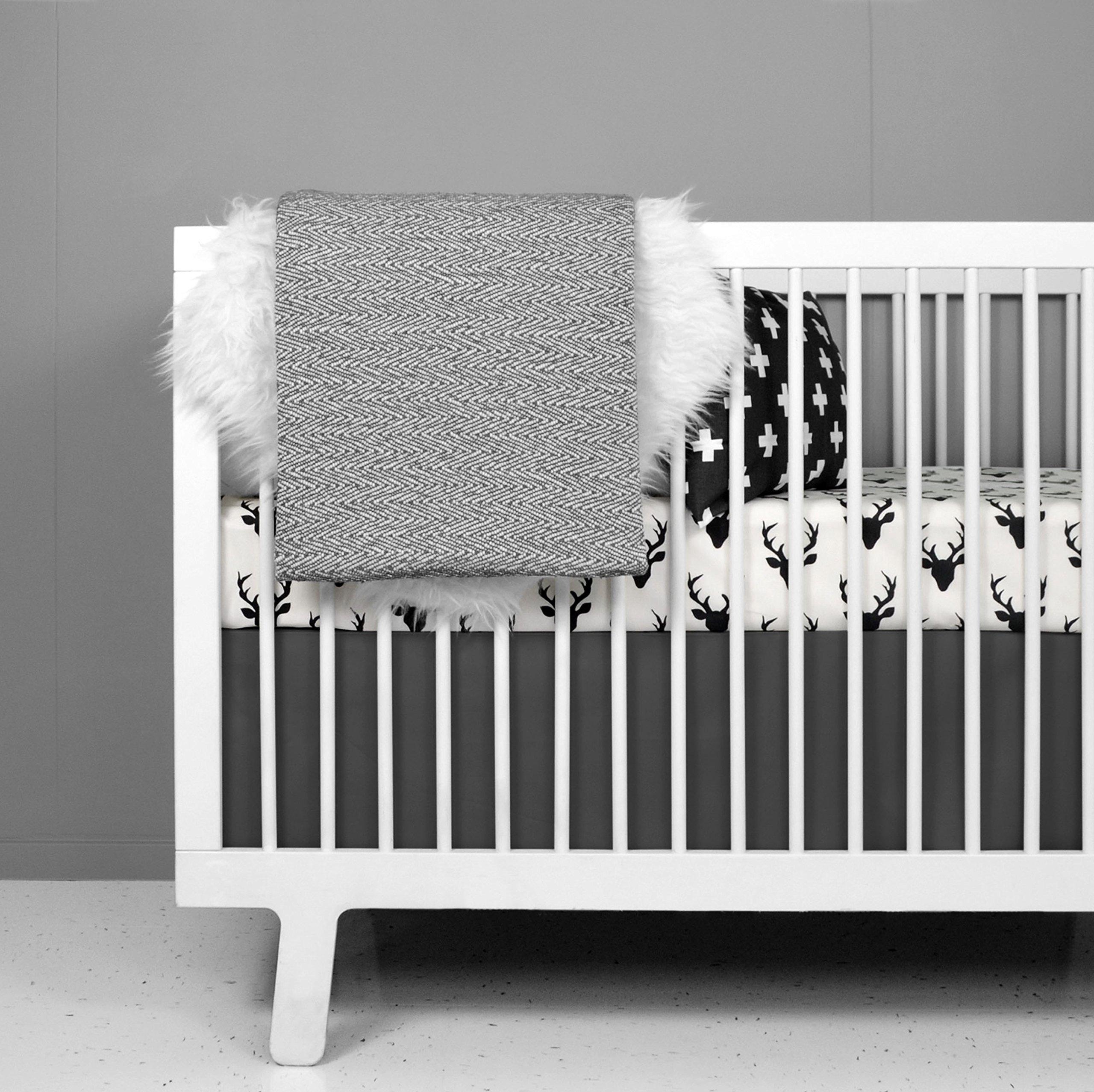 Crib Bedding Set - Woodland Deer Design