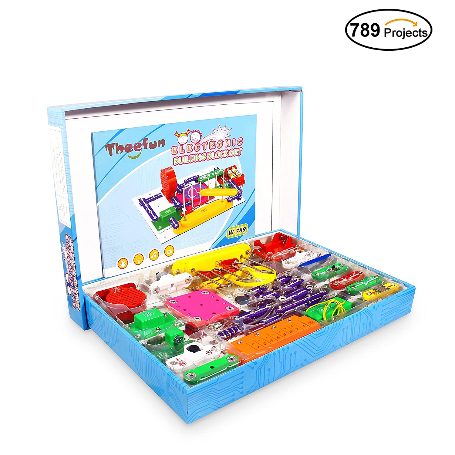 Hot Amazon Theefun 789 Projects Smart Educational Electronics Diy Electronic Circuit Has The Highly Rated Discovery Kit Great Building Blocks Electric Circuits For 3199 17