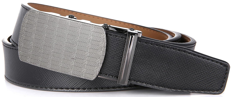 Marino Ratchet Leather Dress Belt For Men Adjustable Click Belt with Automatic Sliding Buckle
