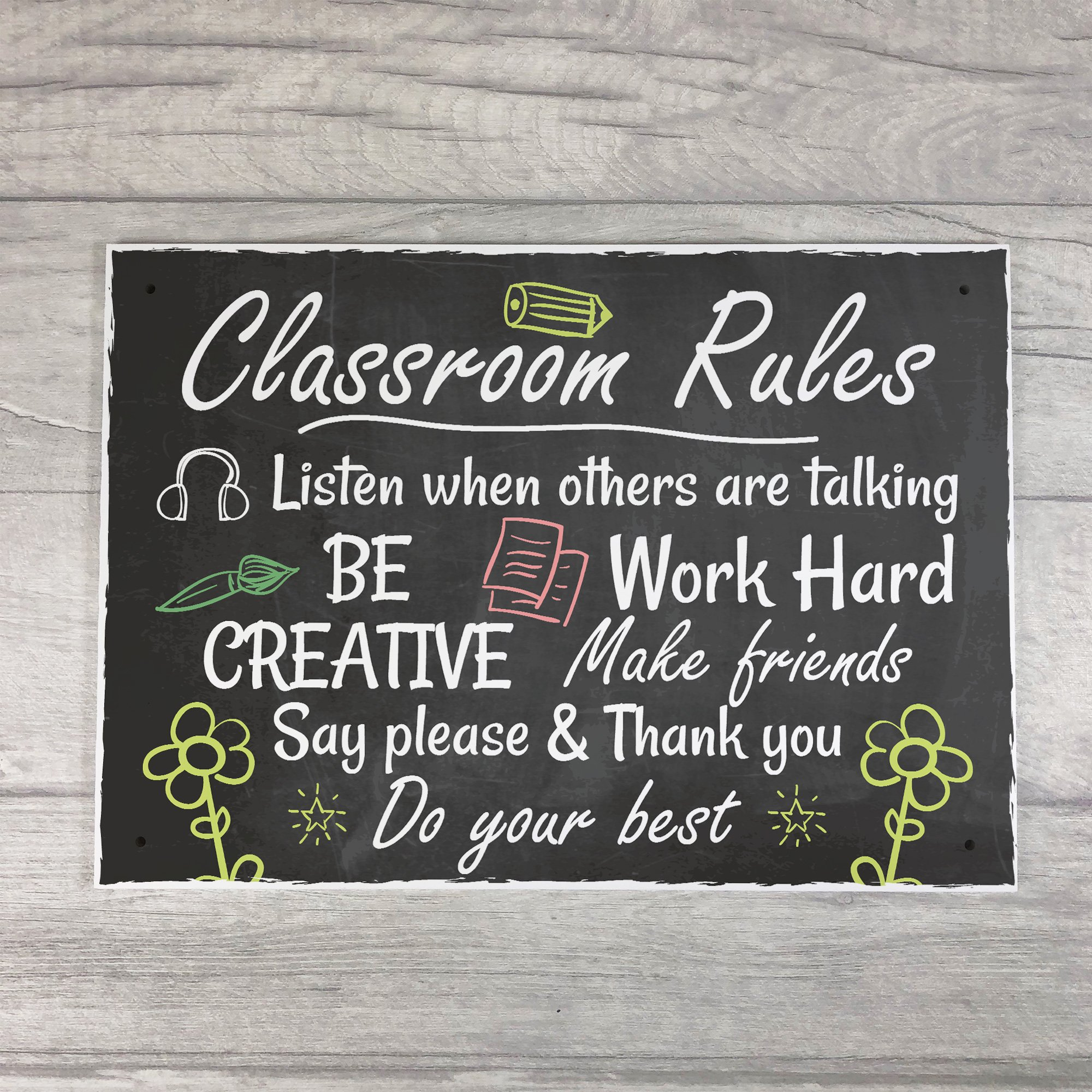 XLD Store Classroom Rules Plaque Best Teacher School Nursery Sign Leaving Gift