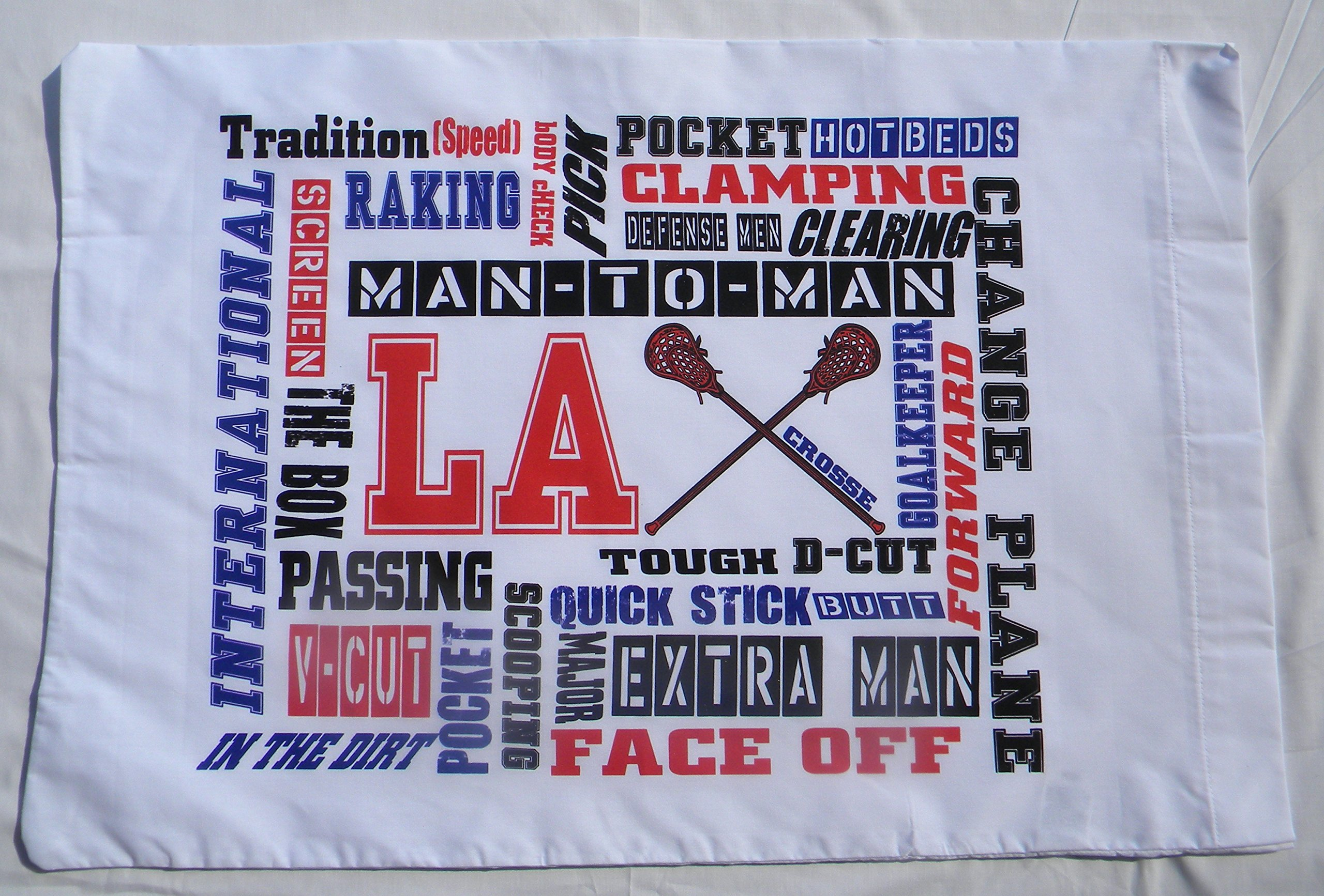 Lacrosse Chatter Standard Pillowcase