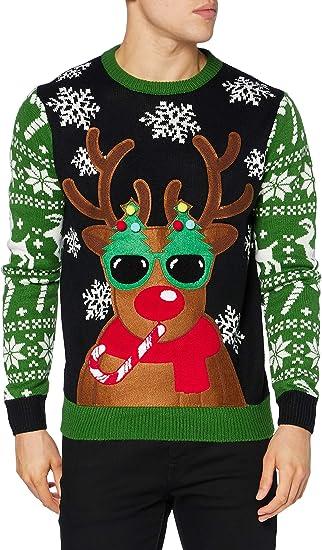 Mens Christmas Xmas Jumper Sweater Novelty Jumpers Ugly Pullover Santa Reindeer