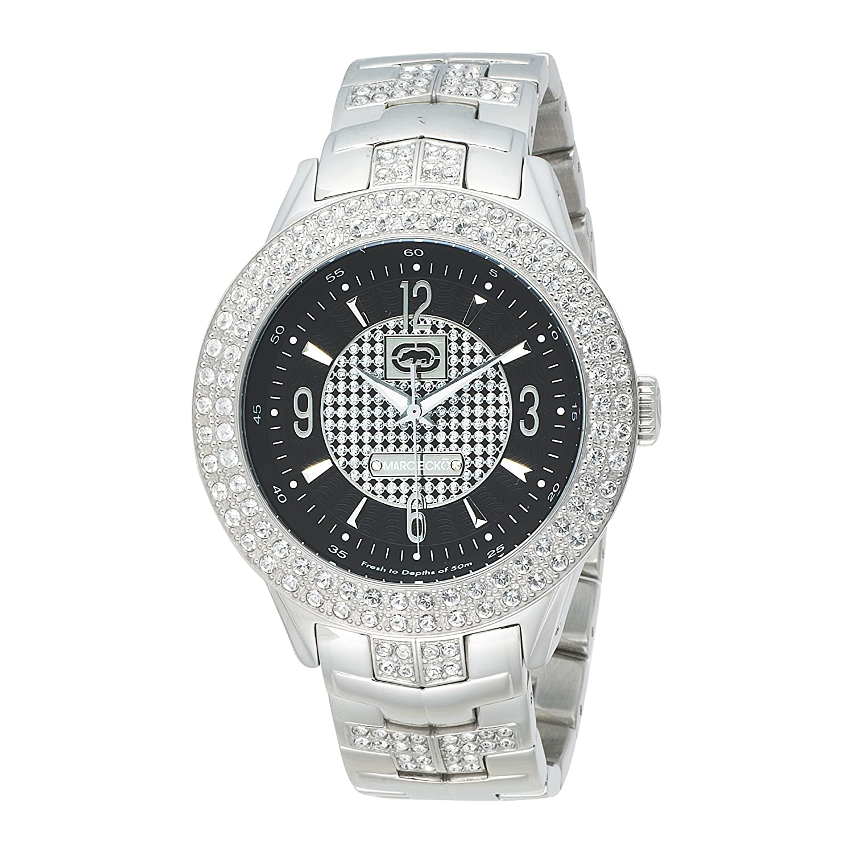 Amazon.com: Marc Ecko Men's 'The King' Quartz Stainless Steel Dress Watch,  Color:Silver-Toned (Model: E20033G3): Marc Ecko: Watches