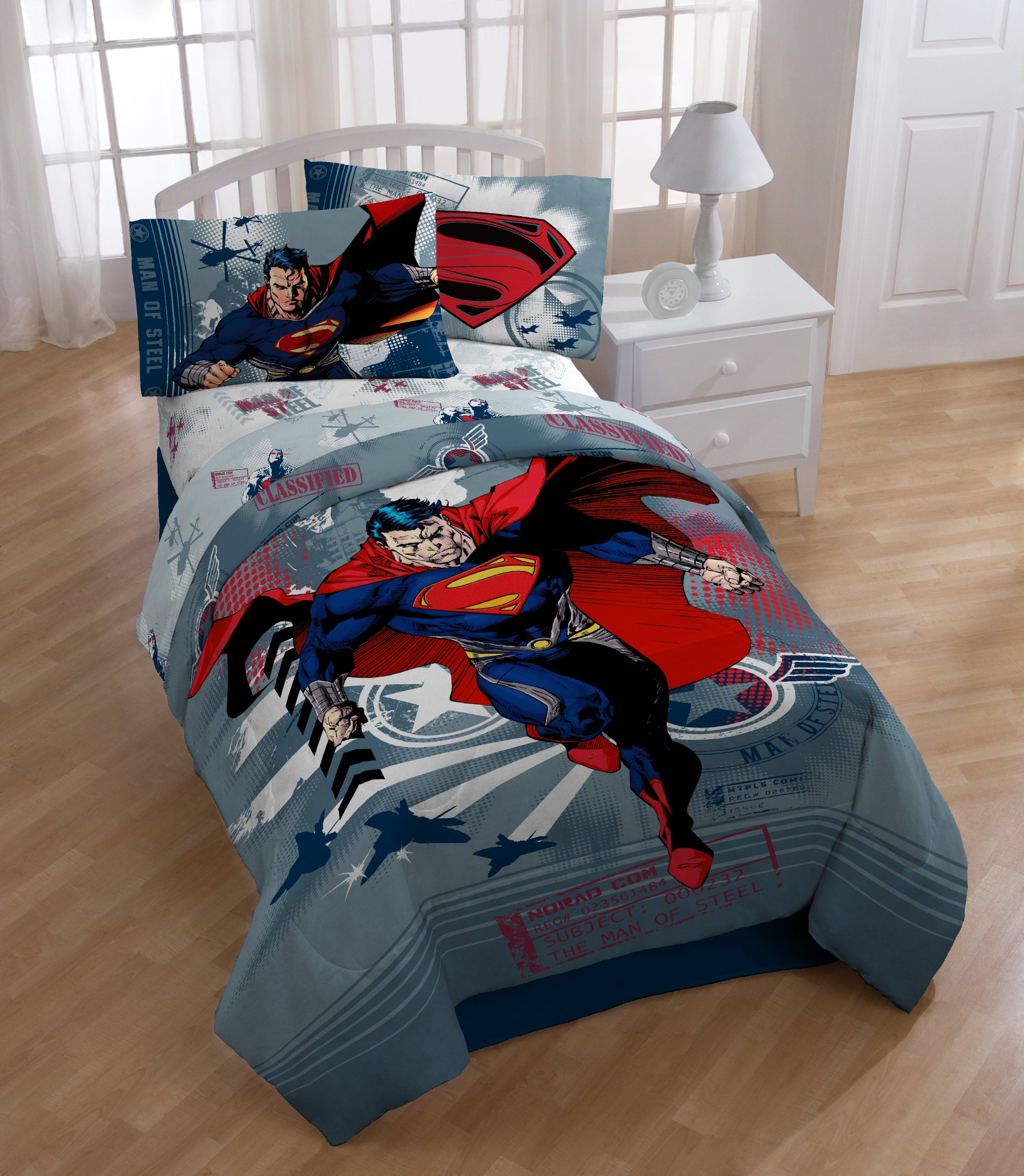 Warner Brothers Superman Man of Steel Reversible Comforter, Twin