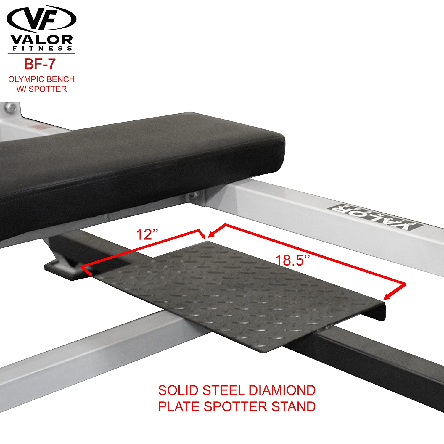 Amazoncom Valor Fitness Bf 7 Olympic Bench With Spotter Olympic Weight