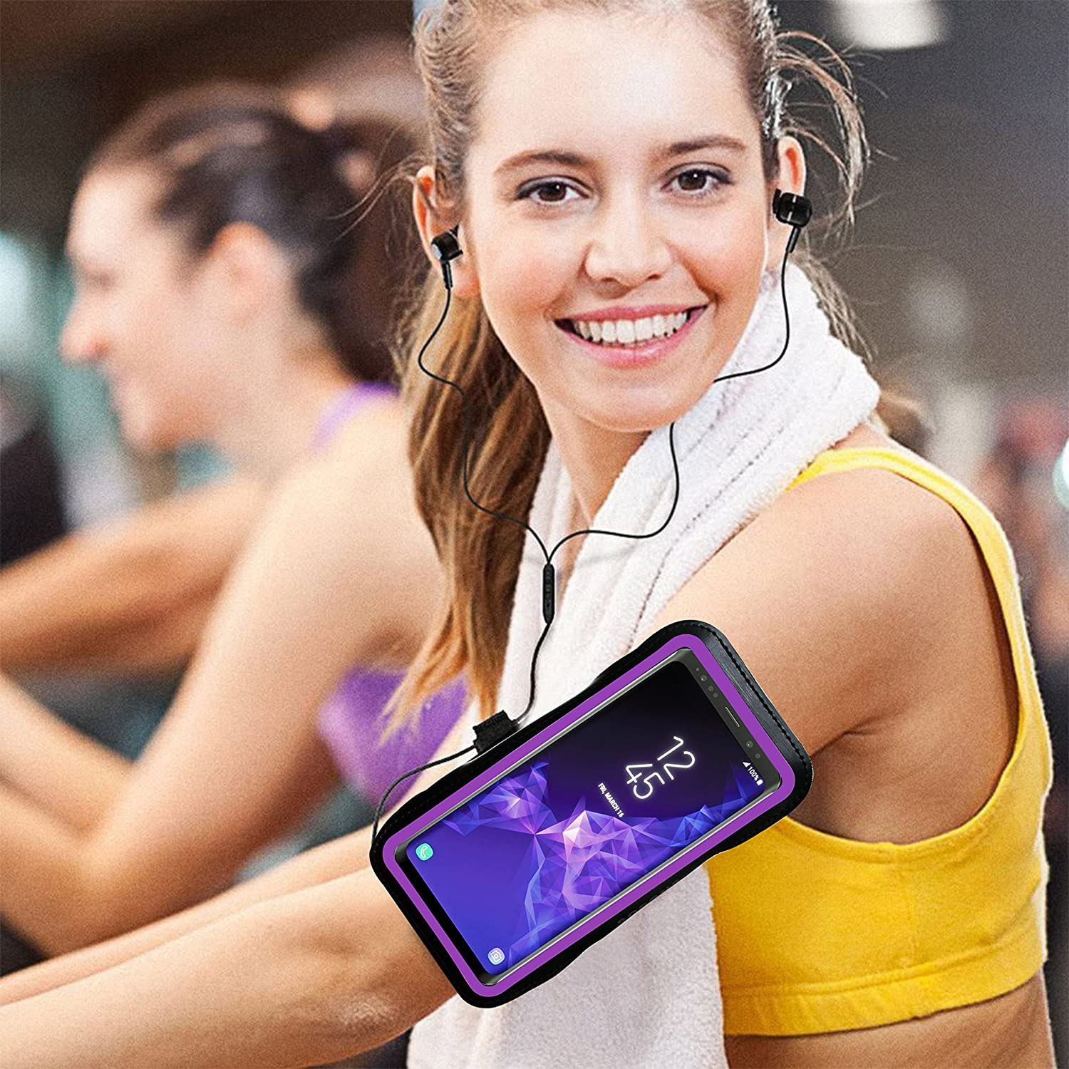 Extension Strap Water Resistant Sports Gym Armband Case for Samsung Galaxy S9//S9 Plus,with Card Pockets and Key Slot,Fits Smartphones with Slim Case Black SOSONS Galaxy S9//S9+ Armband