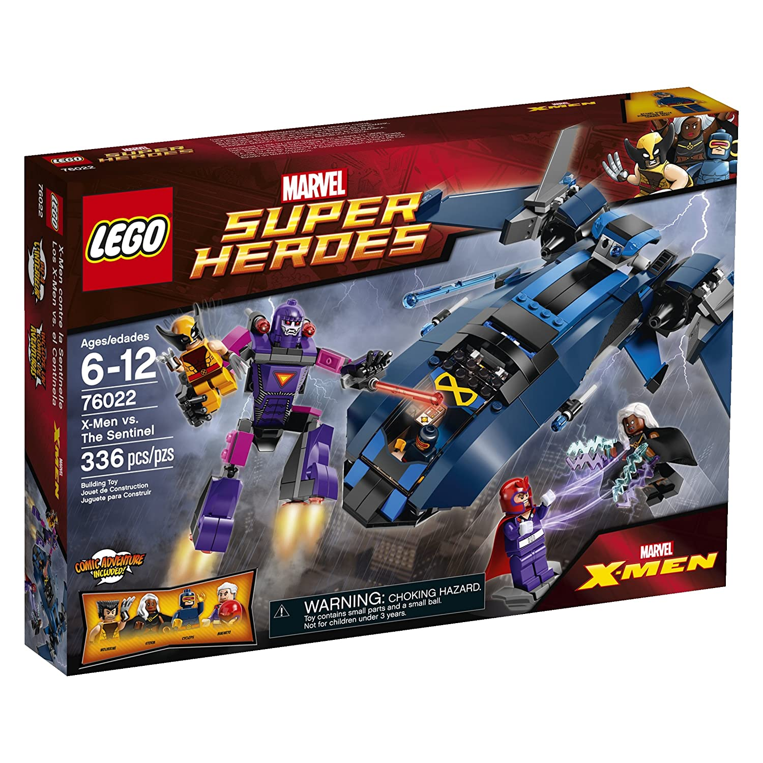 5d361f6df1 Amazon.com: LEGO Superheroes X-Men vs. The Sentinel Building Set 76022  (Discontinued by manufacturer): Toys & Games
