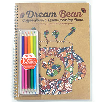 School Datebooks Coffee Lovers Adult Coloring Book Includes Colored Pencils