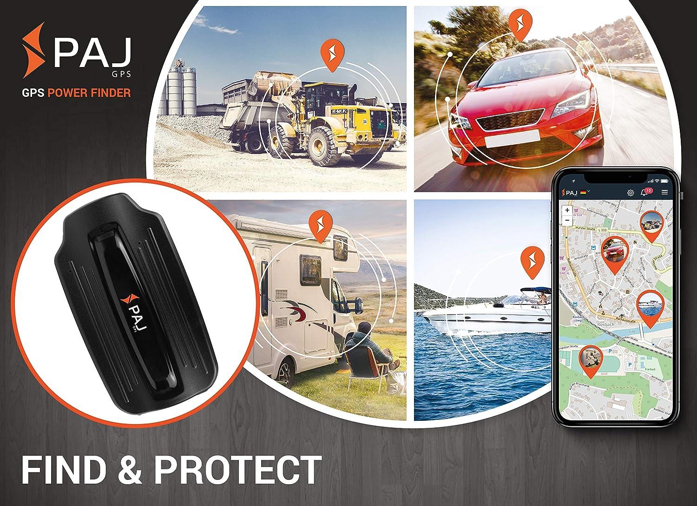 Power Finder Localizador GPS PAJ GPS- Marca Alemana- Antirrobo para Coches, Furgonetas - Batería de Larga Duración Dura hasta 2 Meses
