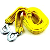 PRO QUALITY 4.5M Tow Towing Pull Rope Strap Cable Heavy Duty Garage 5 Tons Car Van Vehicle Car Recovery Tool