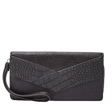 5d531c80603 Amazon.com  Relic RFID Becca Wristlet Checkbook, Black Crocodile  Clothing