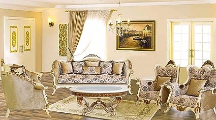 Amazon Com European Furniture 3 Piece Paris Luxury Sofa Set