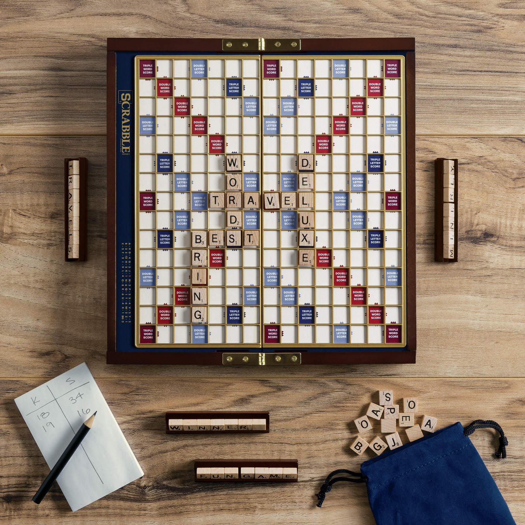 Scrabble Deluxe Travel Edition by WS Game Company