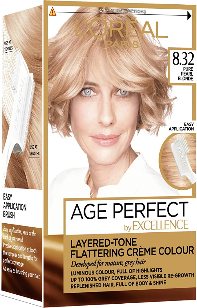 LOreal Excellence Age Perfect 8.32 Pure Pearl Blonde, Tinte para cabello