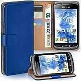 MoEx Samsung Galaxy Xcover 2 Hülle Blau mit Karten-Fach [OneFlow 360° Book Klapp-Hülle] Handytasche Kunst-Leder Handyhülle für Samsung Galaxy Xcover 2 Case Flip Cover Schutzhülle Tasche