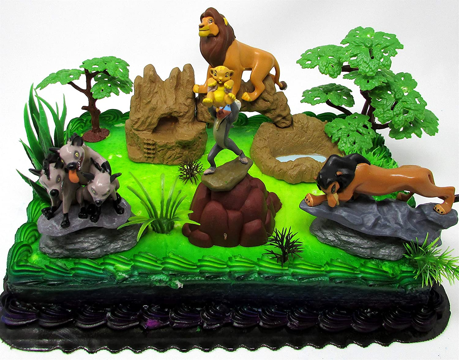 Magnificent Amazon Com Lion King Birthday Cake Topper Set Featuring Lion King Funny Birthday Cards Online Barepcheapnameinfo