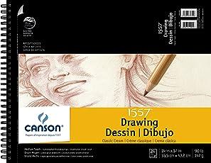 CANSON 1557 blanco crema cuaderno de dibujo