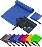 2er-Set Mikrofaser Handtücher, 70x140cm + 30x50cm, ultra saugfähig + leicht, Sporthandtuch, Reisehandtuch, Badetuch Microfaser, Saunatuch, Strandhandtuch xxl