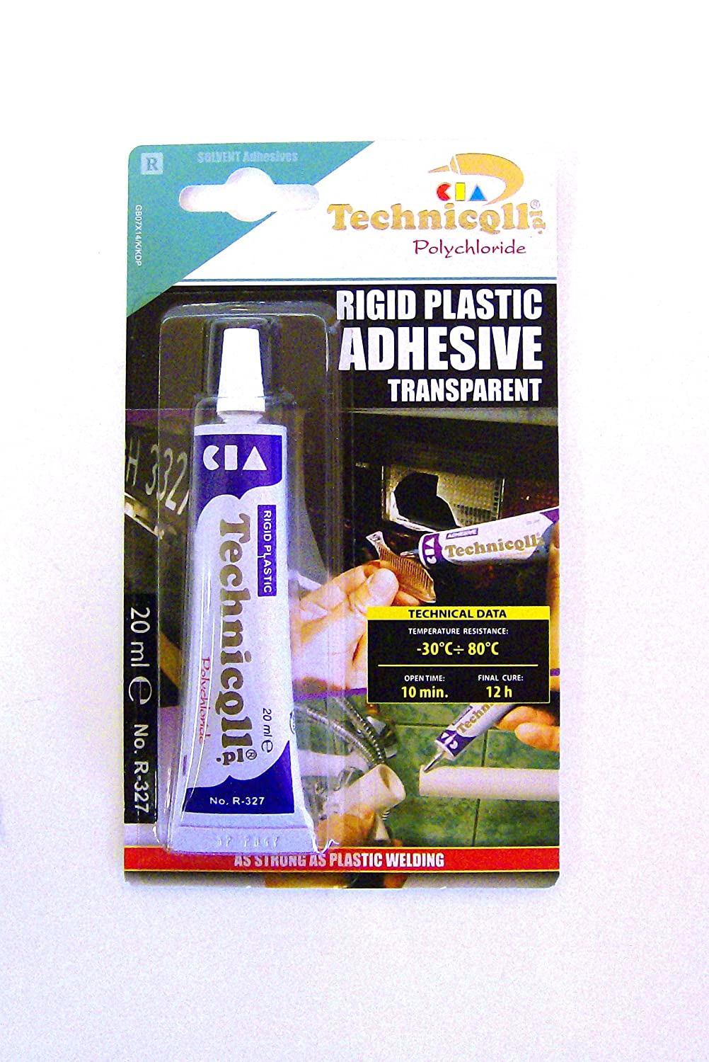 STRONG CLEAR ADHESIVE GLUE FOR HARD PLASTIC ABS TR EVA PERSPEX ...