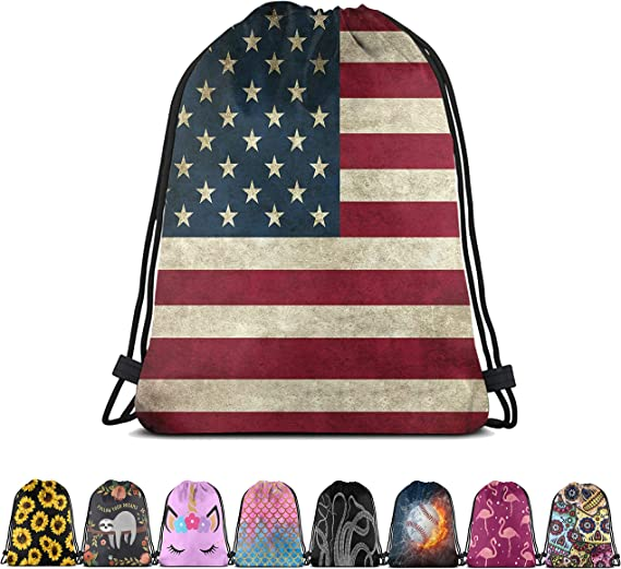 Britimes Drawstring Bags Beach Sport Gymsack Waterproof Gifts for Girl Outdoor Hiking Swimming String Backpack Blue Dragon