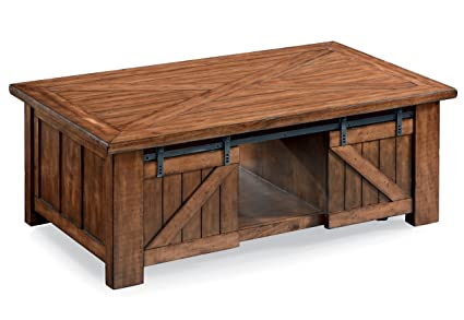 Magnussen T3269 50 T3269 Harper Farm Rustic Lift Top Coffee Table In Warm  Pine
