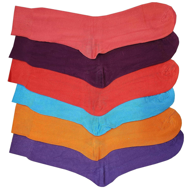 Britwear 6 calcetines coloridos de bambú para hombre, traje ...