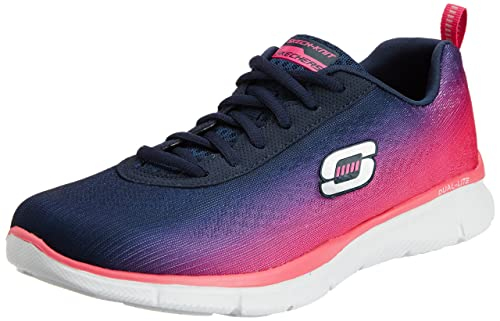 Skechers Women's Equalizer Perfect Pair Lace Up Trainer Blue Purple