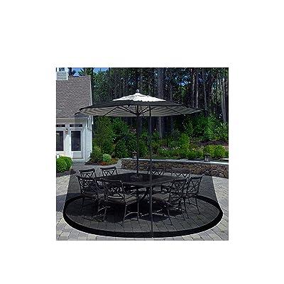 Patio Umbrella Cover Mosquito Netting Screen for Patio Table Umbrella, Garden Deck Furniture- Zippered Mesh Enclosure Cover by Pure Garden : Garden & Outdoor