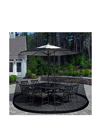 Great Pure Garden Patio Umbrella Cover Mosquito Netting Screen For Patio Table  Umbrella, Garden Deck Furniture