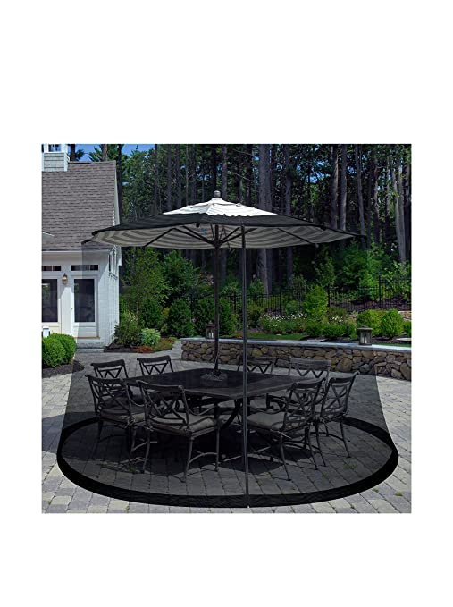 patio umbrella cover mosquito netting screen for patio table umbrella garden deck furniture zippered - Patio Table With Umbrella