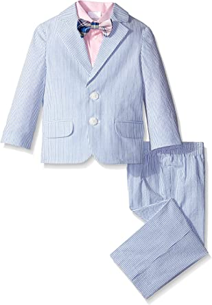 Jacket and Pants Tie Nautica Boys 4-Piece Suit Set with Dress Shirt
