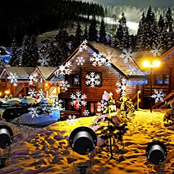 Christmas lights outdoor projector prodeli led snowflake light christmas lights outdoor projector prodeli led snowflake light waterproof landscape lamp motion sparkling snowfall for aloadofball Image collections
