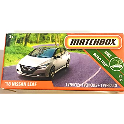 Matchbox '18 Nissan Leaf (White) 91/125 MBX Road Trip 23/35 Power Grab Boxed Die Cast: Toys & Games