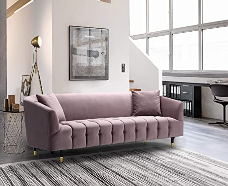 Amazon.com: Iconic Home Julia Sofa Velvet Upholstered ...